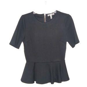 WD.NY black peplum blouse Size M NWT